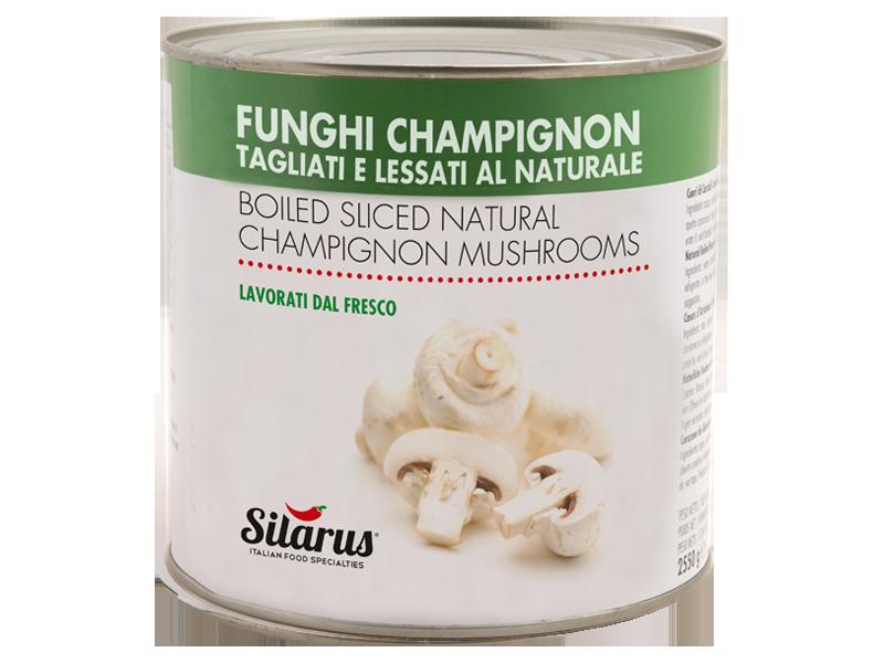Funghi Champignon tagliati al naturale