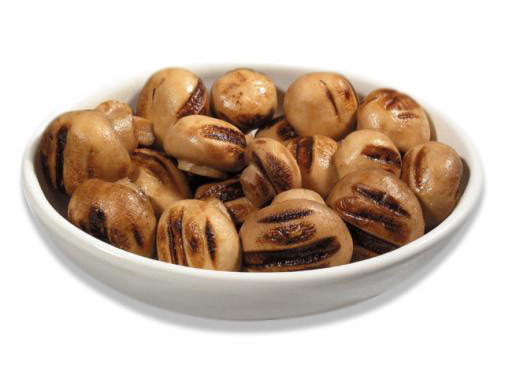 Funghi interi grigliati in olio