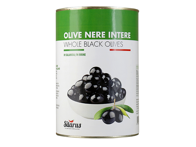Olive nere intere in salamoia